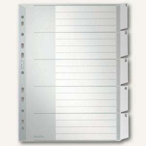 LEITZ Kunststoff-Register, blanko, DIN A4 Überbreite, 5-teilig, 1271-00-85