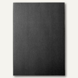LEITZ Deckblatt, DIN A4, Leinenkarton 240 g/qm, schwarz, 100 Stück, 15774