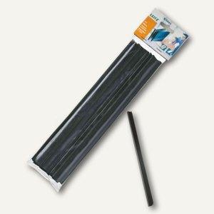 LEITZ Klemmschiene, DIN A4, 15 mm, Kunststoff, schwarz, 25 Stück, 21791