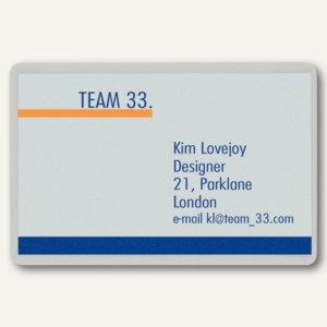 LEITZ Laminierfolientasche für Visitenkarten, 60 x 90 mm, 100 Stück, 7369-00-02