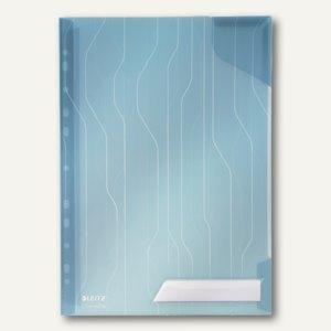 LEITZ Sicht-/Prospekthülle CombiFile, DIN A4, PP, blau, 5 Stück, 4726-00-35