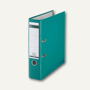 LEITZ Kunststoffordner 180°, Rückenbreite 80 mm, PP, türkis, 1010-50-52