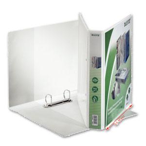 Präsentations-Ringbuch, DIN A4+, Ø 30 mm, 2-D-Ringmechanik, weiß, 4280-00-01