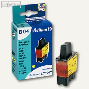 Pelikan Tintenpatrone B04 gelb für Brother DCP-110C kompatibel zu LC900Y, 355034
