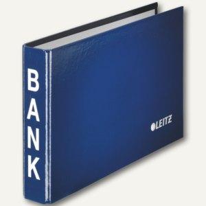 LEITZ Bankordner, für Kontoauszüge, 2-Ring-Mechanik, blau, 1002-00-35
