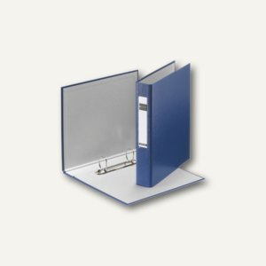 LEITZ Ringbuch Standard, DIN A5, 2 D-Ring-Mechanik, Hartpappe, blau, 4213-00-35