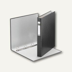 LEITZ Ringbuch Standard, DIN A4 Überbreite,4 D-Ring-Mechanik,schwarz, 4212-00-95