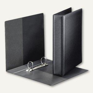 LEITZ Premium Ringbuch, DIN A5, 2 D-Ring, SoftClick, PP, schwarz, 4604-00-95