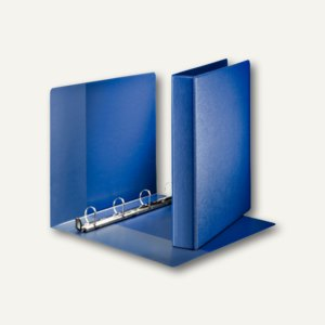 LEITZ Premium Ringbuch, DIN A4, 63 mm, 4 D-Ring-SoftClick, PP, blau, 4603-00-35