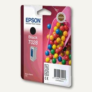 Epson Tintenpatrone T028, schwarz, C13T02840110