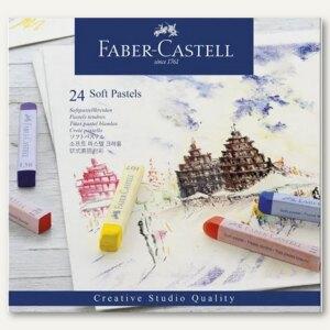 Faber-Castell Softpastellkreide Studio, 24er Pack, farbig sortiert, 128324