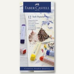 Faber-Castell Softpastellkreide Studio, 12er Pack, farbig sortiert, 128312