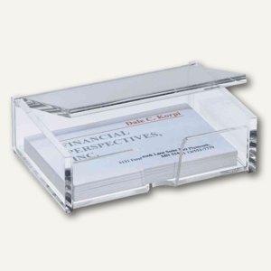 Sigel Visitenkarten-Box, Acryl, glasklar, mit Deckel, VA112