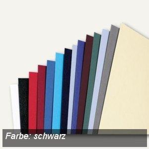 GBC Einbanddeckel LeatherGrain, DIN A5, 250 g/qm, schwarz, 100 Stück, 4400017