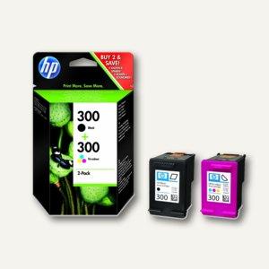 HP Tintenpatronen Nr.300, Multipack schwarz + color, CN637EE