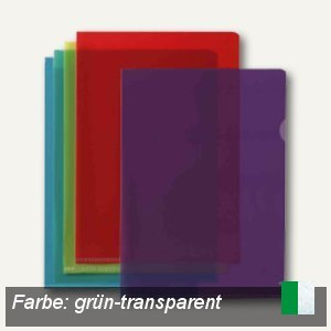 "Elba Sichthüllen ""M Star"" A4, oben & Seite offen, PVC grün, 10 St., 100206710"