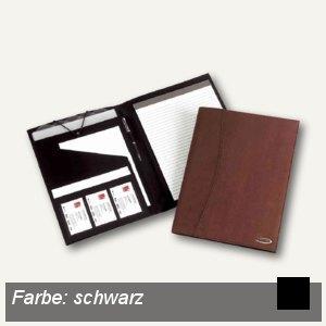 Konferenzmappe Soft-Touch, DIN A4, Schreibblock, Kunstleder, schwarz, 2101418