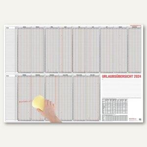 Güss Urlaubsübersicht für 60 Mitarbeiter, 15 Monate, 120 x 80 cm, 12-80