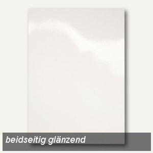 Einbanddeckel HiGloss beidseitig, DIN A4, Karton, 250 g/qm, weiß, 100 St., CE020