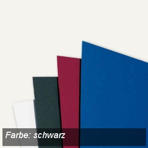 GBC Einbanddeckel LinenWeave, DIN A4, 250 g/qm, schwarz, 100 Stück, CE050010