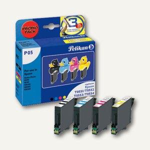 Pelikan Tintenpatronen P05, schwarz, cyan, magenta, gelb, 4 x 9 ml, 353511