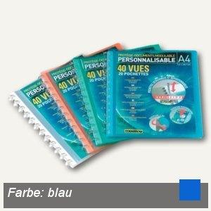 """Elba Sichtbuch """"Vario-Zipp"""", DIN A4, mit 20 Hüllen, blau, 100205599"""