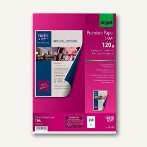 "Sigel Universal-Papier ""Premium"", DIN A4, 120 g/qm, hochweiß, 250 Blatt, LP322"