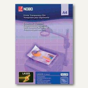 Nobo Laserdrucker-Folie, DIN A4, PP, 120 my, glasklar, 50 Blatt, 33633740
