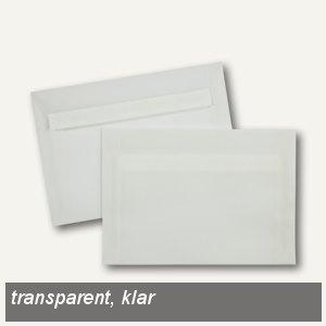 Briefhüllen C6, haftklebend, 92 g/m², transparent-klar, 500 Stück