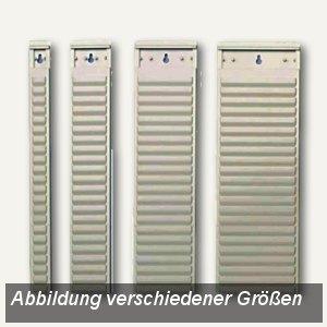 Nobo T-Kartenträger für Kartengröße 2, 32 Schlitze, 64 x 660mm, 10 St., 1900393