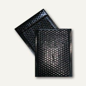Geschenk-Luftpolstertaschen 220 x 320 mm, haftklebend, schwarz metallic, 100 St.