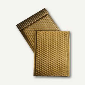 Geschenk-Luftpolstertaschen 220 x 320 mm, haftklebend, gold mattiert, 100 St.