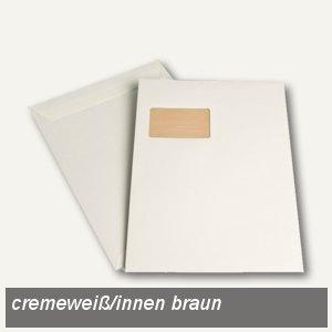 """Versandtaschen """"naturelle"""" C4, Fenster, haftklebend, 120 g/m² cremeweiß, 250 St."""