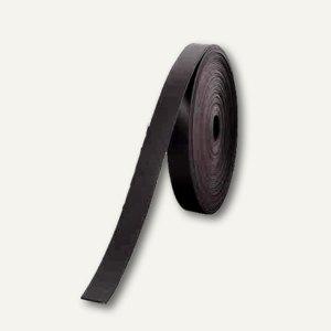 Nobo Magnetbandstreifen, 10 mm x 5 m, schwarz, 1901131
