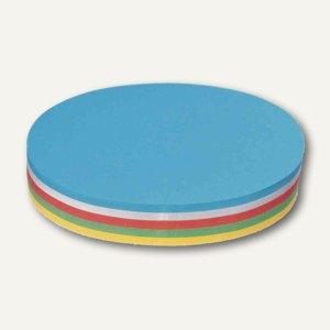 Nobo Moderationskarte Ovale, 130 g/qm, 110x190mm, sortiert, 250 Stück, 1901293