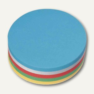 Nobo Moderationskarte Kreise, 130 g/qm, Ø140mm, sortiert, 250 Stück, 1901305