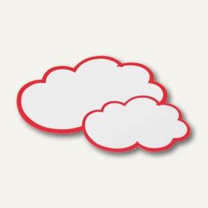 Nobo Moderationskarten Wolken, 170 g/qm, 420x250mm, weiß/rot, 20 Stück, 1901317