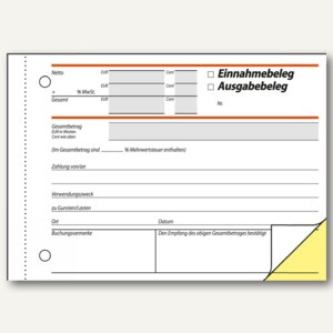 Formularbuch Ausgabe-/Einnahmebeleg