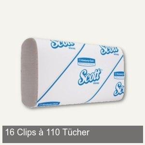 SLIMFOLD-Handtücher, 6-fach Falzung, 29,5 x 19,0 cm, 1-lagig weiß, 1.760 Tücher,