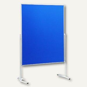 Nobo Moderationswand Standard, 1200 x 1500 mm, Filz beidseitig, blau, 1901324