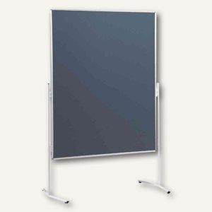Nobo Moderationswand Standard, 1200 x 1500 mm, Filz beidseitig, grau, 1901325