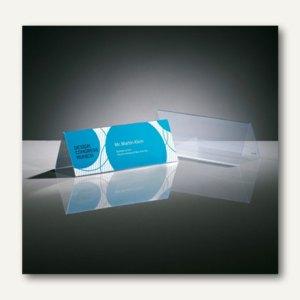 Sigel Tischaufsteller, Dachform, 100x60 mm, Hartplastik, glasklar, 10St., TA136