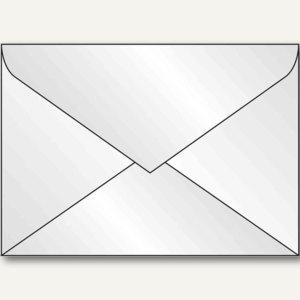 Sigel Umschlag, DIN C5, Spezialpapier 100 g/qm, gummiert, weiß, 50 Stück, DU251