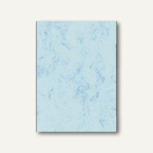 Sigel Marmor-Papier, DIN A4, Edelkarton 200 g/qm, blau, 50 Blatt, DP551