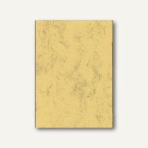 sigel Marmor-Papier, DIN A4, Edelkarton 200 g/qm, sandbraun, 50 Blatt, DP553