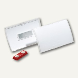 Namensschild Click Fold, 75 x 40 mm, Magnet, transparent, 10 Stück, 8212-19