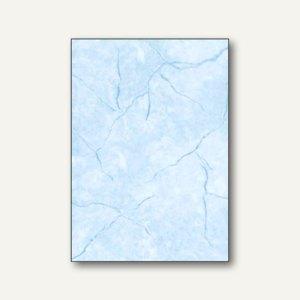 Sigel Struktur-Papier, DIN A4, Granit blau, 200 g/qm, 50 Blatt, DP649