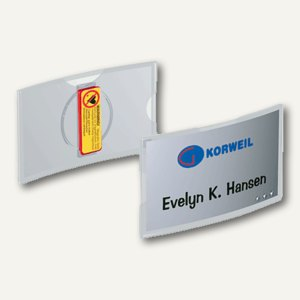 Durable Namensschild konvex mit Magnet, 75 x 40 mm, transp., 25 Stück, 8123-19