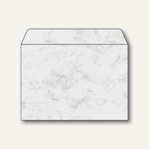 sigel Umschlag, DIN C5, 90 g/qm, gummiert, Marmor grau, 25 Stück, DU202