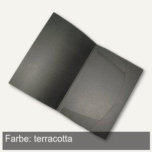 Angebotsmappe, Karton, Einschlagklappen, bis 50 Blatt, terracotta, 25 St.